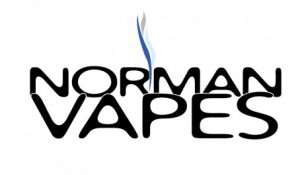 Image of the custom logo designed by Electremedia for Norman Vapes, an e-cig store in Norman, Oklahoma.