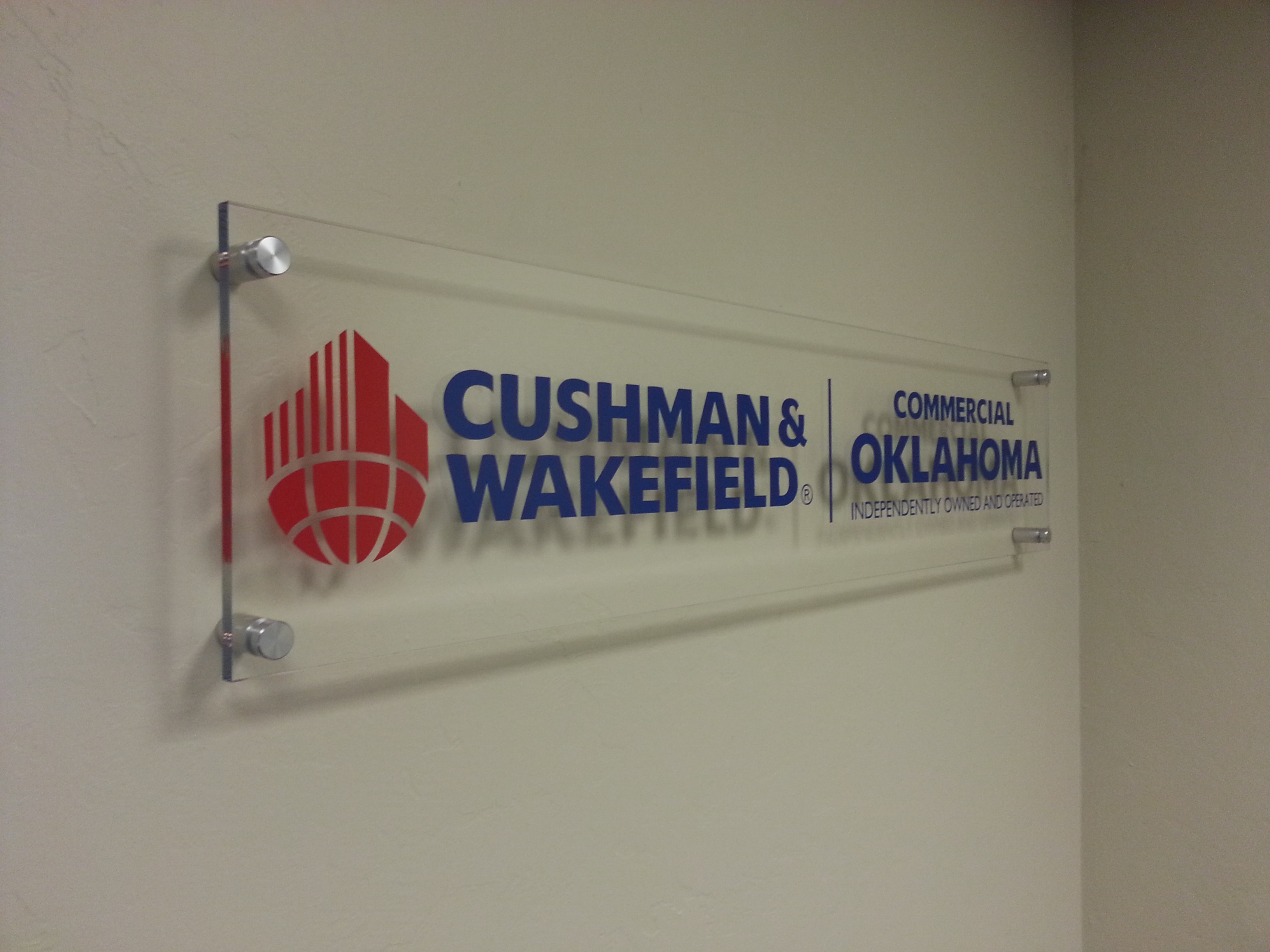 Commercial oklahoma lobby sign photo