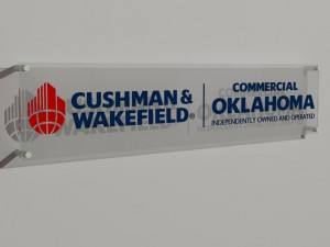 A 3D image of a sign proposed for Commercial Oklahoma.