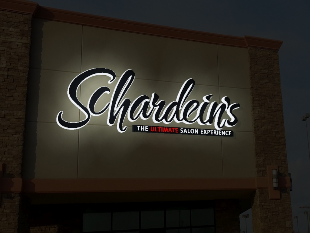 3d Simulation Of New Schardein Sign At Night Custom