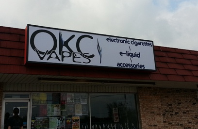 New Store Sign for OKC Vapes