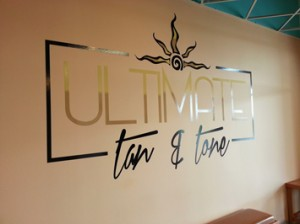 Picture of logo wall graphic