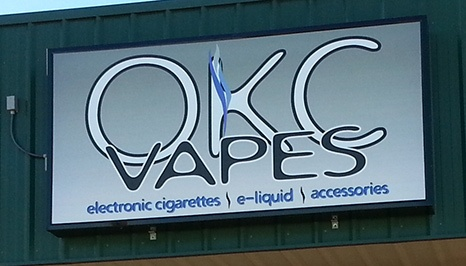 New Sign Face for OKC Vapes – Norman Store