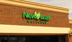 Thumbnail picture of exterior wall sign for wellness clinic.
