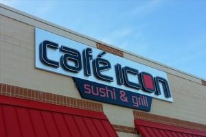 Picture of custom restaurant sign.