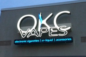Picture of e-cig store sign.