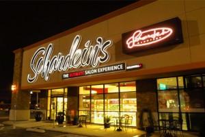 Photo of exterior salon sign.
