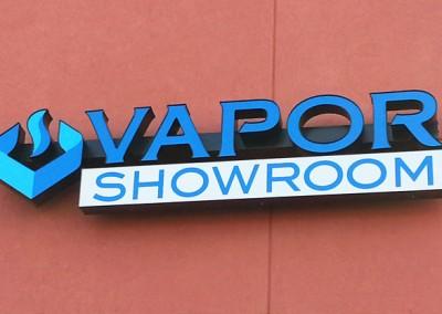 Vapor Shop Sign Channel Letters