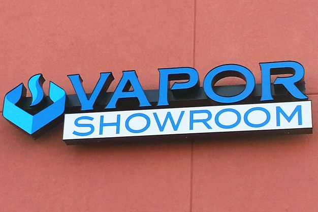 Vapor Shop Sign Channel Letters