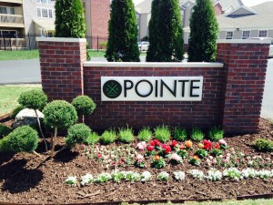 Monument sign for The Pointe by Electremedia Signs and Design.