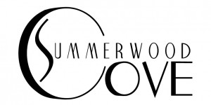 Summerwood Cove's new logo in black and white.