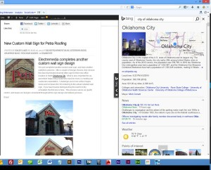 Screenshot of Bing's Knowledge Widget in action.