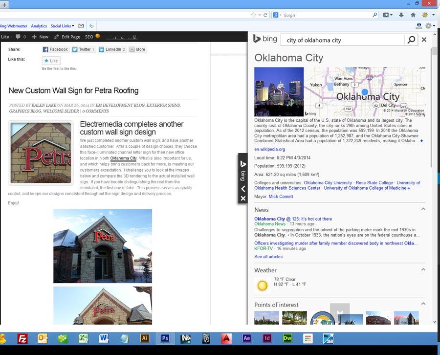Adding Bing Knowledge Widget to WordPress